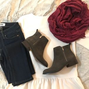 Jessica Simpson Grey Suede Ankle Booties!